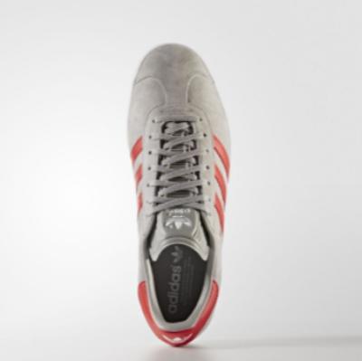 Παπουτσια Adidas Originals Gazelle Ανδρικα Γκρι Βαθυ Κοκκινα Ασπρα