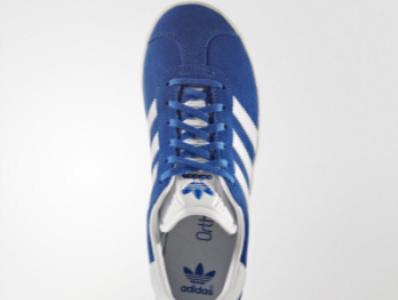 713d2e0309c ... Παπουτσια Adidas Originals Gazelle Για Κοριτσια Μπλε / Ασπρα Χρυσο  Χρωμα / Μεταλλικός ...