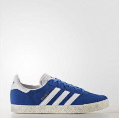 718f2bb8800 Παπουτσια Adidas Originals Gazelle Για Κοριτσια Μπλε / Ασπρα Χρυσο Χρωμα /  Μεταλλικός