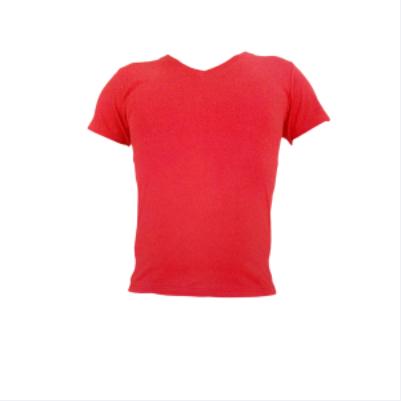 Μπλουζα V μακο μονοχρωμη κοκκινη