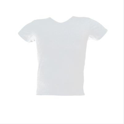 Μπλούζα V μακό μονόχρωμη Ασπρη