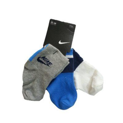 Παιδικές bebe κάλτσες Nike 3 pairs Μπλε /γκρι /λευκό
