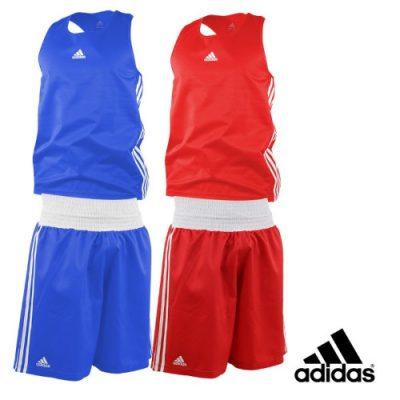 Σετ ερασιτεχνικής πυγμαχίας Adidas (φανέλα και σορτσάκι )Κόκκινο /Λευκό