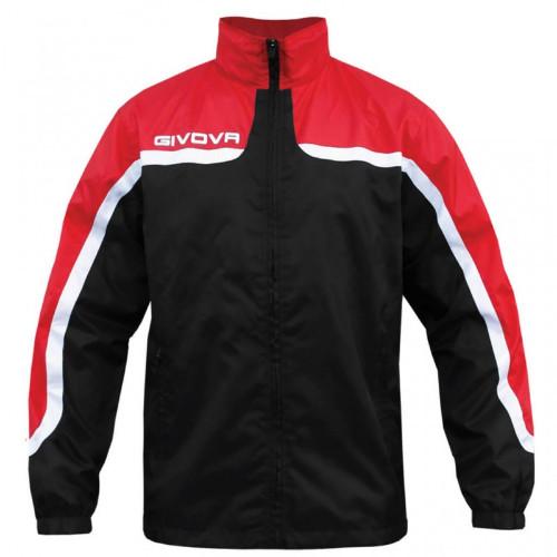 Αδιάβροχο Μπουφάν Ανδρικό GIVOVA RAIN JACKET black /red