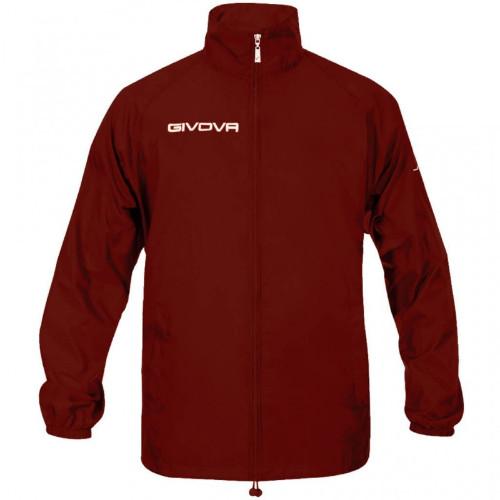 Αντιανεμικό μπουφάν GIVOVA από 100% nylon. Πλαϊνές τσέπες και κρυφή κουκούλα στον γιακά. χρώμα GRANATA
