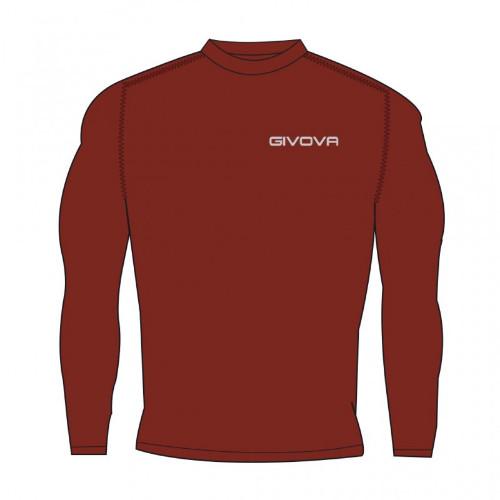 Ισοθερμικό μπλουζάκι givova από 87% πολυεστέρα και 13% elastan. Εφαρμόζει και προσαρμόζεται απόλυτα στις καμπύλες του σώματος. χρώμα BORDO
